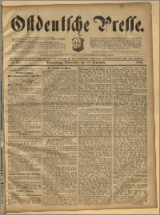 Ostdeutsche Presse. J. 18, 1894, nr 220