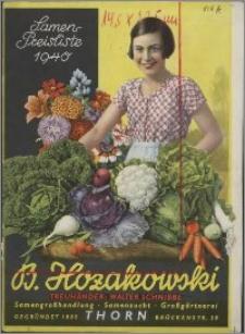 B. Hozakowski : Samenpreisliste 1940