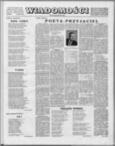 Wiadomości, R. 9 nr 49 (453), 1954