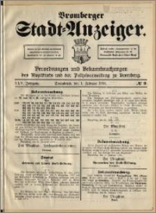 Bromberger Stadt-Anzeiger, J. 25, 1908, nr 9