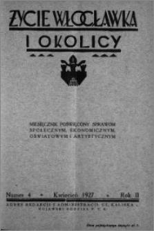 Życie Włocławka i Okolicy 1927, Kwiecień, nr 4