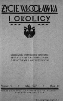 Życie Włocławka i Okolicy 1927, Maj, nr 5