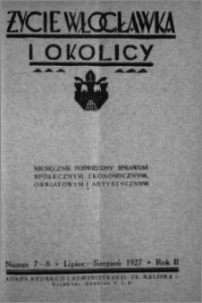 Życie Włocławka i Okolicy 1927, Lipiec - Sierpień, nr 7-8