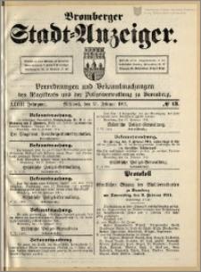 Bromberger Stadt-Anzeiger, J. 28, 1911, nr 13