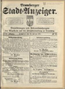 Bromberger Stadt-Anzeiger, J. 28, 1911, nr 14