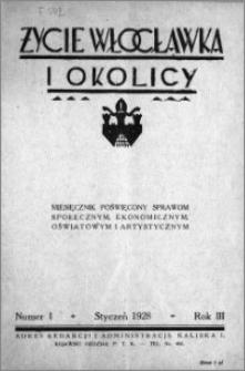Życie Włocławka i Okolicy 1928, Styczeń, nr 1