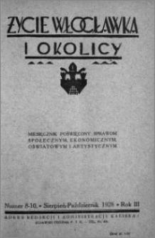Życie Włocławka i Okolicy 1928, Sierpień - Październik nr 8-10