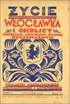 Życie Włocławka i Okolicy 1929, Styczeń, nr 1
