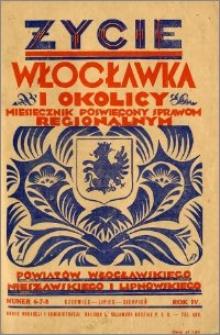 Życie Włocławka i Okolicy 1929, Czerwiec - Lipiec - Sierpień, nr 6-7-8