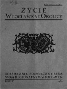 Życie Włocławka i Okolicy 1930, Sierpień, nr 5