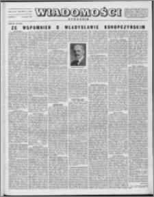Wiadomości, R. 8 nr 1 (353), 1953