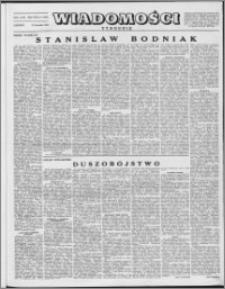 Wiadomości, R. 8 nr 4 (356), 1953