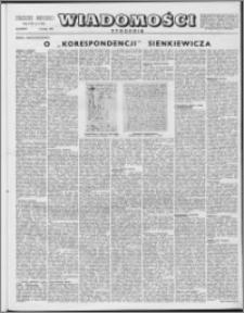 Wiadomości, R. 8 nr 6 (358), 1953