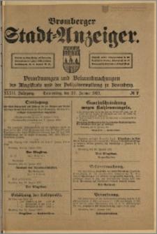 Bromberger Stadt-Anzeiger, J. 36, 1919, nr 7