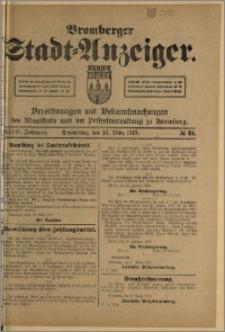 Bromberger Stadt-Anzeiger, J. 36, 1919, nr 21