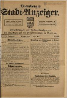 Bromberger Stadt-Anzeiger, J. 36, 1919, nr 28