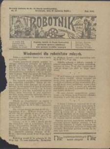 Robotnik : bezpłatny dodatek do Gazety Grudziądzkiej poświęcony sprawom robotniczym oraz sprawom inwalidów wojennych 1926.04.15 nr 8