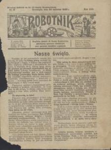 Robotnik : bezpłatny dodatek do Gazety Grudziądzkiej poświęcony sprawom robotniczym oraz sprawom inwalidów wojennych 1926.04.29 nr 9
