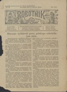 Robotnik : bezpłatny dodatek do Gazety Grudziądzkiej poświęcony sprawom robotniczym oraz sprawom inwalidów wojennych 1926.06.10 nr 12