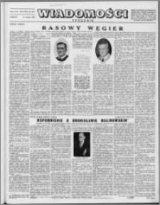 Wiadomości, R. 8 nr 25 (377), 1953