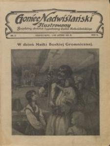 Goniec Nadwiślański Ilustrowany : bezpłatny dodatek tygodniowy Gońca Ndwiślańskiego 1931.02.01 R.5 nr 5