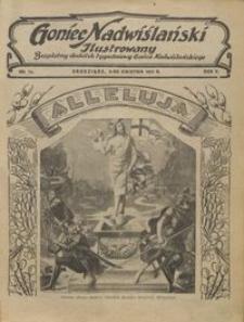 Goniec Nadwiślański Ilustrowany : bezpłatny dodatek tygodniowy Gońca Ndwiślańskiego 1931.04.05 R.5 nr14