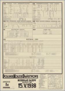Rozkład jazdy ważny od 15.V.1938 : arkusz IE. : 139 Chojnice - Tczew - Marienburg (Malbork) [...]