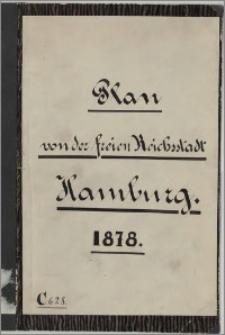 Plan von Hamburg : Altona, Ottensen, Wandsbeck und Umgebung
