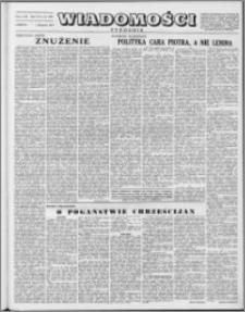 Wiadomości, R. 8 nr 44 (396), 1953