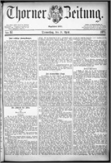 Thorner Zeitung 1878, Nro. 92
