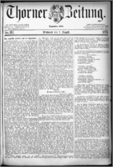 Thorner Zeitung 1878, Nro. 182
