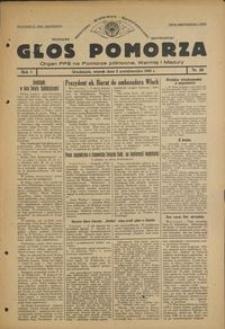 Głos Pomorza : organ PPS na Pomorze północne, Warmię i Mazury : 1945.10.02, R. 1 nr 59