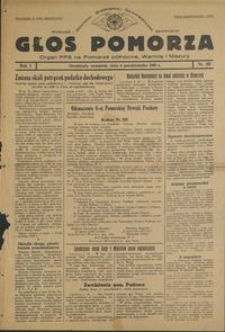 Głos Pomorza : organ PPS na Pomorze północne, Warmię i Mazury : 1945.10.04, R. 1 nr 60