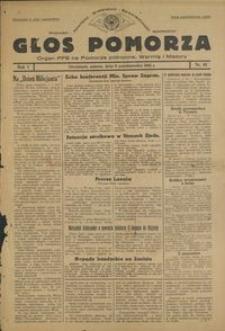 Głos Pomorza : organ PPS na Pomorze północne, Warmię i Mazury : 1945.10.06, R. 1 nr 61