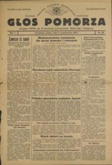 Głos Pomorza : organ PPS na Pomorze północne, Warmię i Mazury : 1945.10.13, R. 1 nr 63