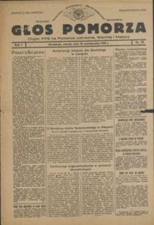Głos Pomorza : organ PPS na Pomorze północne, Warmię i Mazury : 1945.10.30, R. 1 nr 70