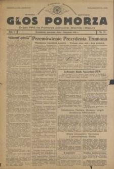 Głos Pomorza : organ PPS na Pomorze północne, Warmię i Mazury : 1945.11.01, R. 1 nr 71