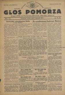 Głos Pomorza : organ PPS na Pomorze północne, Warmię i Mazury : 1945.11.06, R. 1 nr 73
