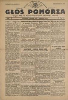 Głos Pomorza : organ PPS na Pomorze północne, Warmię i Mazury : 1945.11.08, R. 1 nr 74