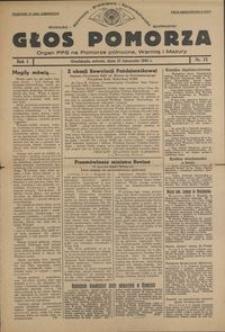 Głos Pomorza : organ PPS na Pomorze północne, Warmię i Mazury : 1945.11.10, R. 1 nr 75