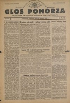 Głos Pomorza : organ PPS na Pomorze północne, Warmię i Mazury : 1945.12.20, R. 1 nr 92
