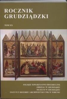 Rocznik Grudziądzki T.20