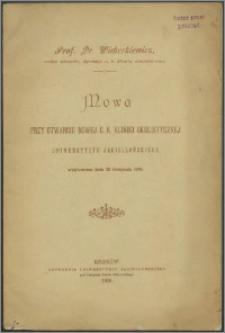 Mowa przy otwarciu nowej c. k. kliniki okulistycznej Uniwersytetu Jagiellońskiego wygłoszona dnia 28 listopada 1898