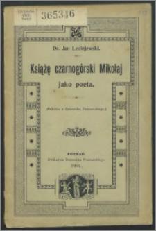 Książę czarnogórski Mikołaj jako poeta