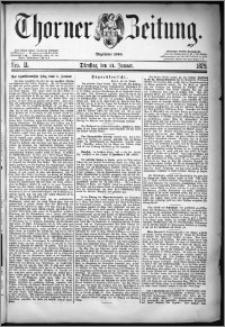 Thorner Zeitung 1879, Nro. 11 + Extra-Beilage