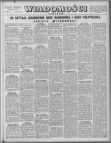Wiadomości, R. 7 nr 20 (320), 1952