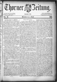 Thorner Zeitung 1879, Nro. 78