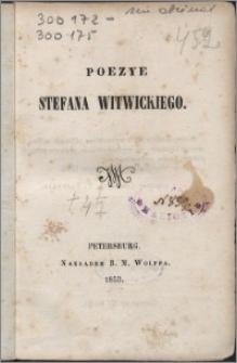 Poezje Stefana Witwickiego