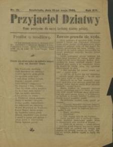 Przyjaciel Dziatwy : pismo poświęcone dla naszej kochanej dziatwy polskiej 1907.05.12 nr 19