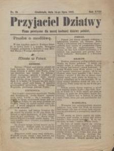 Przyjaciel Dziatwy : pismo poświęcone dla naszej kochanej dziatwy polskiej 1912.07.16 nr 29